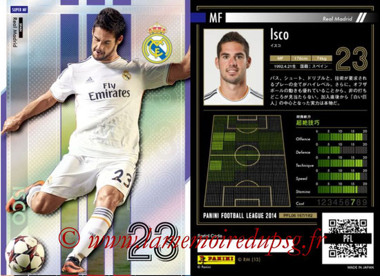 Panini Football League 2014 - PFL06 - N° 167 - ISCO (Real Madrid CF) (Super MF)