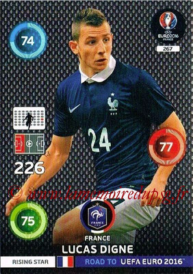 Panini Road to Euro 2016 Cards - N° 267 - Lucas DIGNE (France ) (Rising Star)