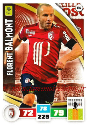 2016-17 - Panini Adrenalyn XL Ligue 1 - N° 116 - Florent BALMONT (Lille)