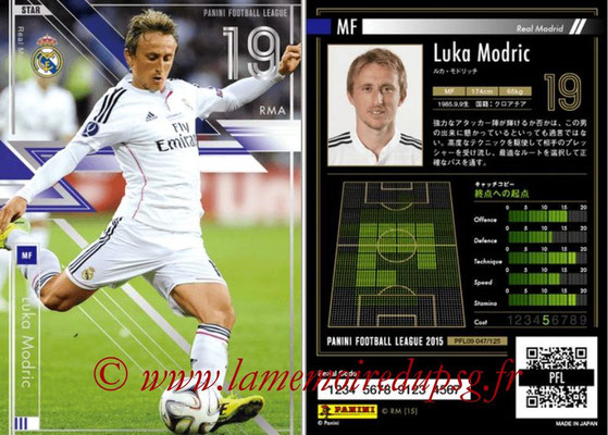 Panini Football League 2015 - PFL09 - N° 047 - Luka MODRIC (Real Madrid) (Star)