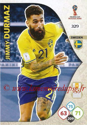 2018 - Panini FIFA World Cup Russia Adrenalyn XL - N° 329 - Jimmy DURMAZ (Suède)