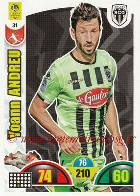 2018-19 - Panini Adrenalyn XL Ligue 1 - N° 031 - Yoann ANDREU (Angers)