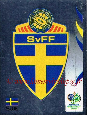 2006 - Panini FIFA World Cup Germany Stickers - N° 151 - Ecusson Suède