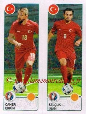 Panini Euro 2016 Stickers - N° 428 - Caner ERKIN + Selcuk INAN (Turquie)