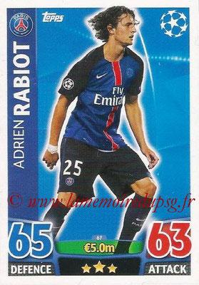 2015-16 - Topps UEFA Champions League Match Attax - N° 067 - Adrien RABIOT (Paris Saint-Germain)