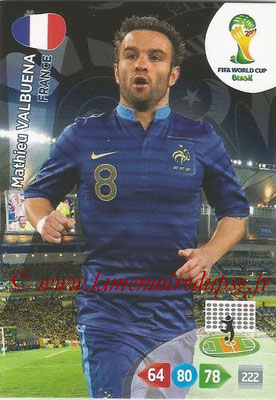 2014 - Panini FIFA World Cup Brazil Adrenalyn XL - N° 166 - Mathieu VALBUENA (France)