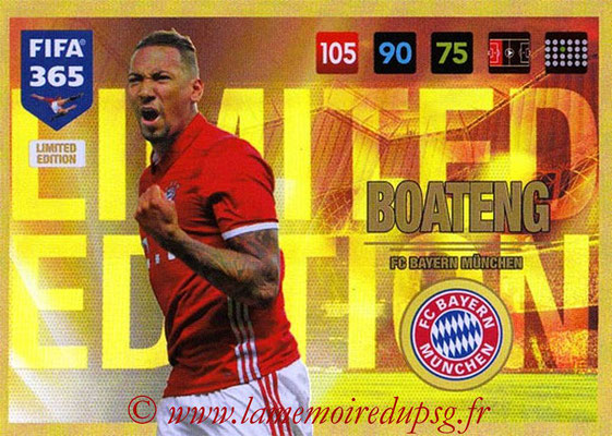 2016-17 - Panini Adrenalyn XL FIFA 365 - N° LE24 - Jérôme BOATENG (FC Bayern Munich) (Limited Edition)