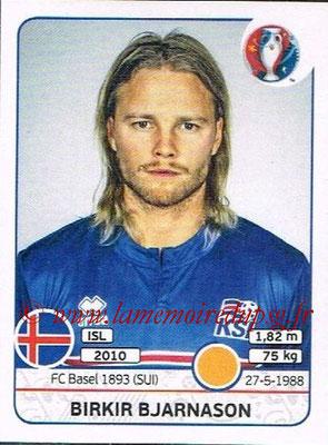 Panini Euro 2016 Stickers - N° 616 - Birkir BJARNASON (Islande)
