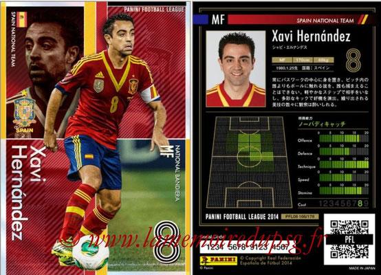 Panini Football League 2014 - PFL08 - N° 166 - Xavi HERNANDEZ (Espagne) (Bandiera)