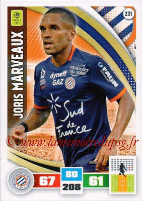 2016-17 - Panini Adrenalyn XL Ligue 1 - N° 231 - Joris MARVEAUX (Montpellier)