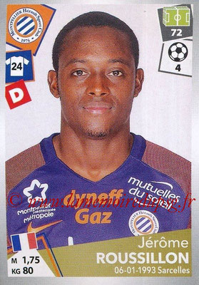 2017-18 - Panini Ligue 1 Stickers - N° 294 - Jérôme ROUSSILLON (Montpellier)
