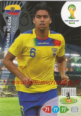 2014 - Panini FIFA World Cup Brazil Adrenalyn XL - N° 125 - Christian NOBOA (Equateur)