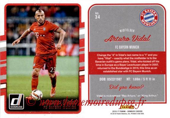 2016 - Panini Donruss Cards - N° 034 - Arturo VIDAL (FC Bayern Munich)