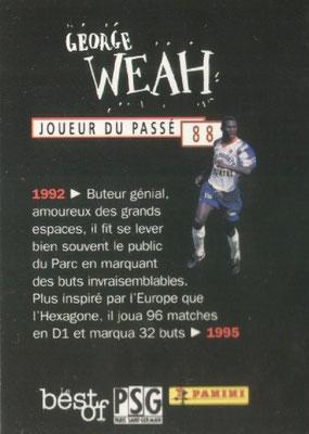 N° 088 - George WEAH (Verso)