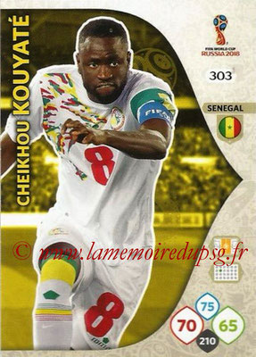 2018 - Panini FIFA World Cup Russia Adrenalyn XL - N° 303 - Cheikhou KOUYATE (Senegal)