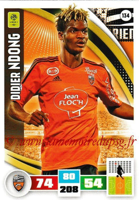 2016-17 - Panini Adrenalyn XL Ligue 1 - N° 134 - Ddidier NDONG (Lorient)