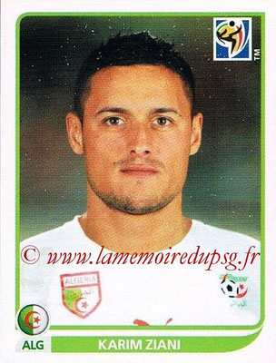 2010 - Panini FIFA World Cup South Africa Stickers - N° 232 - Karim ZIANI (Algérie)