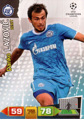 2011-12 - Panini Champions League Cards - N° 275 - Danko LAZOVIC (FC Zenit)