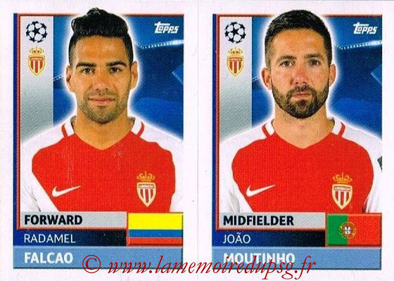 2016-17 - Topps UEFA Champions League Stickers - N° QFH 13-14 - João MOUTINHO + Radamel FALCAO (AS Monaco)