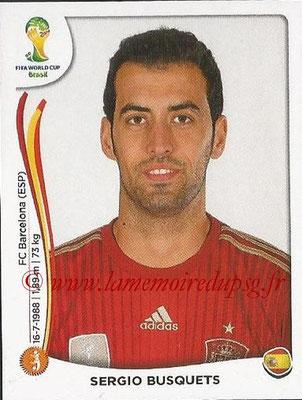 2014 - Panini FIFA World Cup Brazil Stickers - N° 117 - Sergio BUSQUETS (Espagne)