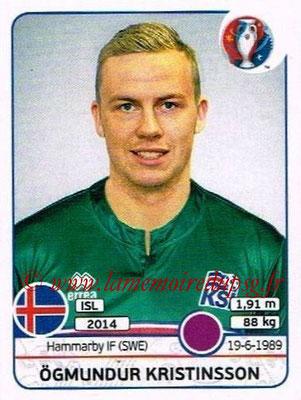 Panini Euro 2016 Stickers - N° 610 - Ogmundur KRISTINSSON (Islande)