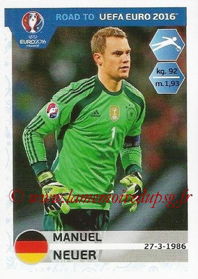 Panini Road to Euro 2016 Stickers - N° 049 - Manuel NEUER (Allemagne)