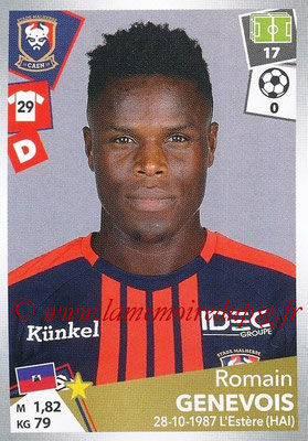 2017-18 - Panini Ligue 1 Stickers - N° 082 - Romain GENEVOIS (Caen)