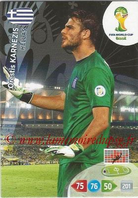 2014 - Panini FIFA World Cup Brazil Adrenalyn XL - N° 179 - Orestis KARNEZIS (Grèce)