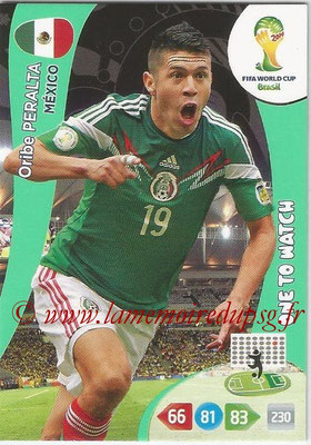 2014 - Panini FIFA World Cup Brazil Adrenalyn XL - N° 248 - Oribe PERALTA (Mexique) (One to watch)