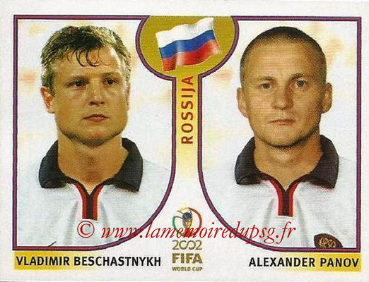 2002 - Panini FIFA World Cup Stickers - N° 530 - Vladimir BESCHASTNYKH + Alexander PANOV (Russie)