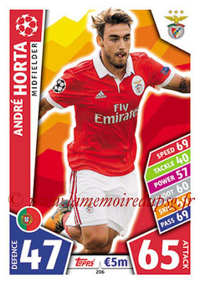2017-18 - Topps UEFA Champions League Match Attax - N° 206 - André HORTA (SL Benfica)