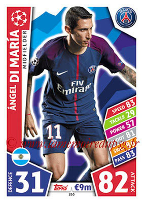 2017-18 - Topps UEFA Champions League Match Attax - N° 265 - Angel DI MARIA (Paris Saint-Germain)