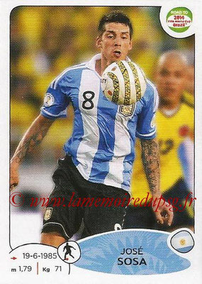 2014 - Panini Road to FIFA World Cup Brazil Stickers - N° 067 - José SOSA (Argentine)