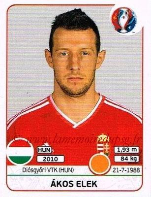 Panini Euro 2016 Stickers - N° 669 - Akos ELEK (Hongrie)