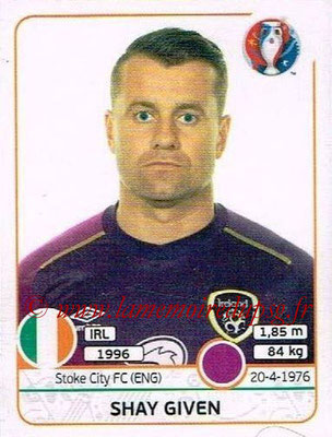Panini Euro 2016 Stickers - N° 517 - Shay GIVEN (République d'Irlande)