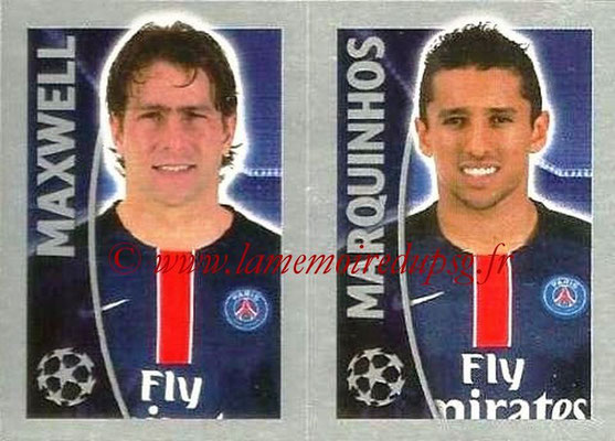 2015-16 - Topps UEFA Champions League Stickers - N° 030 - MAXWELL + MARQUIHNOS (Paris Saint-Germain)