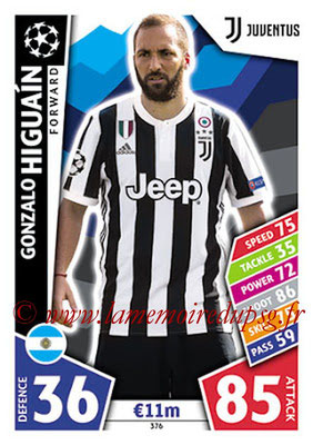 2017-18 - Topps UEFA Champions League Match Attax - N° 376 - Gonzalo HIGUAIN (Juventus)