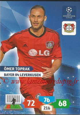 2013-14 - Adrenalyn XL champions League N° 076 - Omer TOPRAK (Bayer 04 Leverkusen)
