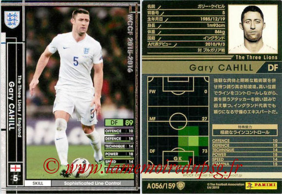 2015-16 - Panini WCCF - N° A056 - Gary CAHILL (Angleterre)