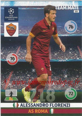2014-15 - Adrenalyn XL champions League N° 221 - Alessandro FLORENZI (AS Roma)