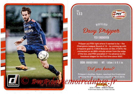 2016 - Panini Donruss Cards - N° 133 - Davy PROPPER (PSV Eindhoven)