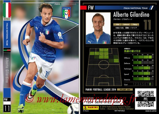 Panini Football League 2014 - PFL08P - N° 004 - Alberto GILARDINO (Italie) (Star)