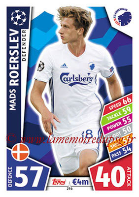 2017-18 - Topps UEFA Champions League Match Attax - N° 296 - Mads ROERSLEV (FC Copenhague)