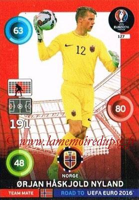 Panini Road to Euro 2016 Cards - N° 127 - Orjan HASKJOLD NYLAND ( Norvège)
