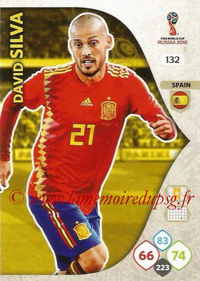 2018 - Panini FIFA World Cup Russia Adrenalyn XL - N° 132 - David SILVA (Espagne)