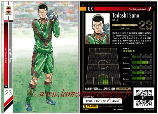 Panini Football League 2014 - PFL04E - N° 006 - Tadashi Sano (East Tokyo United)