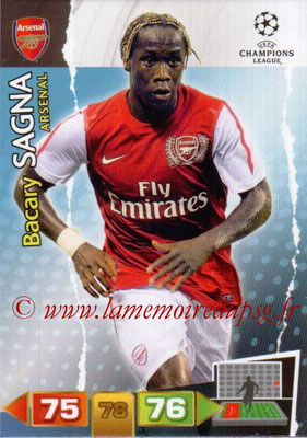 2011-12 - Panini Champions League Cards - N° 012 - Bacary SAGNA (Arsenal FC)