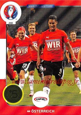 Panini Euro 2016 Cards - N° 240 - Making History de Autriche