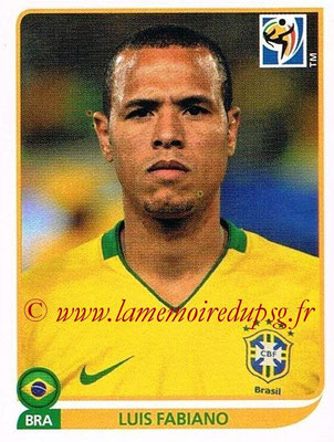 2010 - Panini FIFA World Cup South Africa Stickers - N° 503 - Luis FABIANO (Brésil)