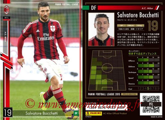 Panini Football League 2015 - PFL13 - N° 002 - Salvatore BOCCHETTI (Milan AC)